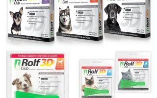 Drops Rolf Club 3D da pulci per cani e gatti